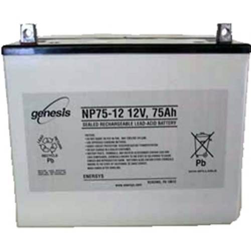 Genesis Yuasa NP75-12 Battery - 12V 77.5Ah Sealed Rechargeable, Replacement Batteries for DM80-12, NP75-12, NP75-12FR