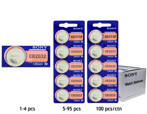 Sony CR2032 Battery - 3V Lithium Coin Cell