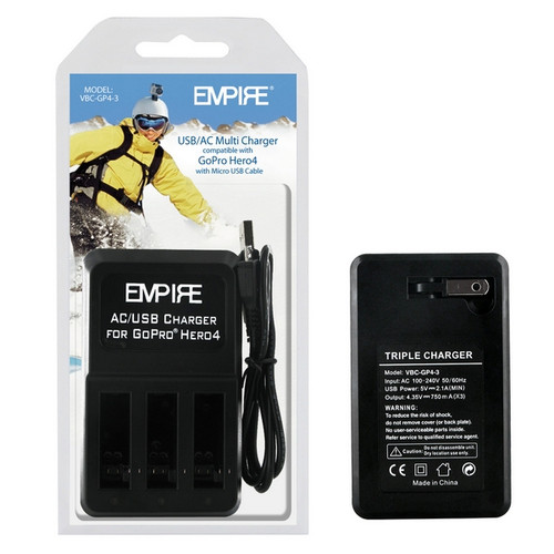 GoPro Hero 4 AHDBT-401 - 3 Bank Battery Charger