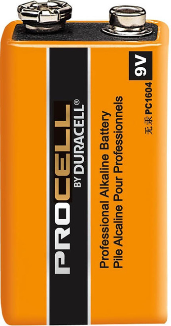 Duracell 9 Volt (9V) Procell Industrial Battery - PC1604 Batteries