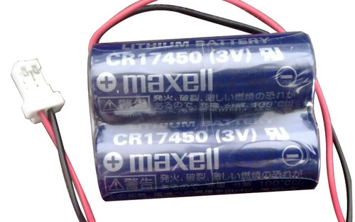 Maxell 2CR17450 Battery CR17450 (3V) Hitachi with RD0296-1 Connector