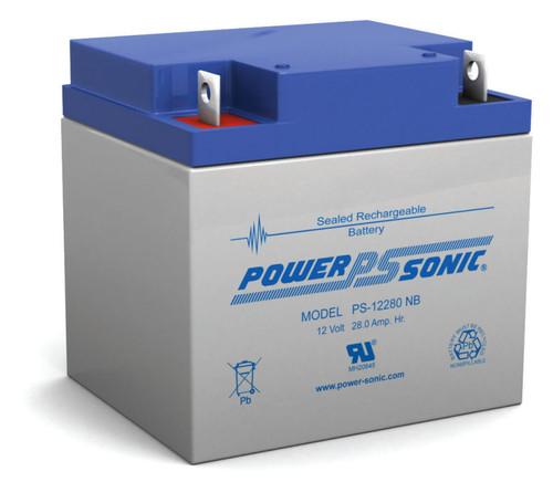 Power Sonic PS-12280 NB Battery - 12 Volt 28 Amp Hour