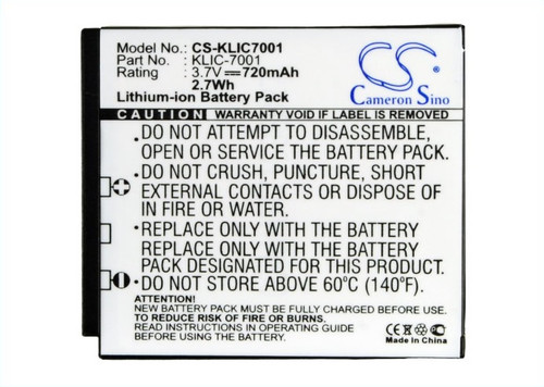 Kodak KLIC-7001 Battery for Digital - Video Camera