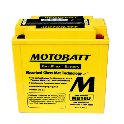 Motobatt MB16U Battery - AGM Sealed for Motorcycle - Powersport