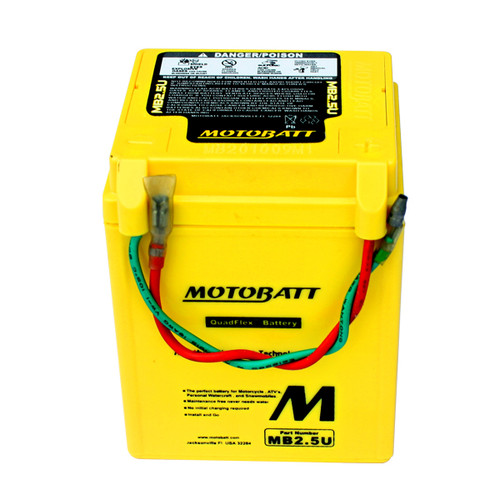 Motobatt MB2.5U Battery - AGM Sealed for Motorcycle - Powersport