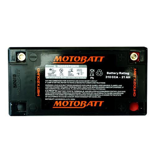 Motobatt MBTX20UHD Battery - AGM Sealed for Motorcycle - Powersport
