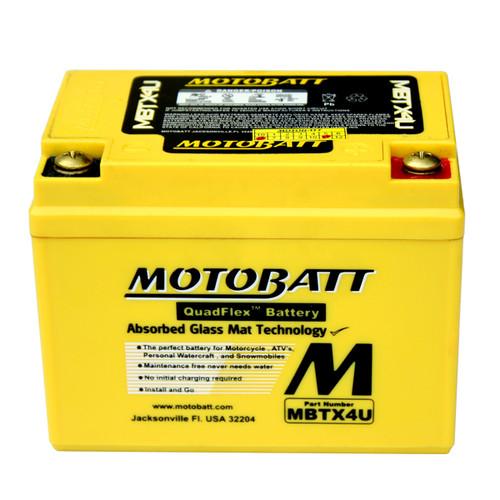 Motobatt MBTX4U Battery - AGM Sealed for Motorcycle - Powersport