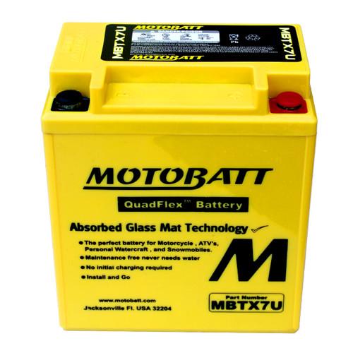 Motobatt MBTX7U Battery - AGM Sealed for Motorcycle - Powersport