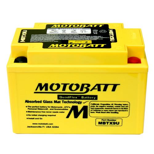 Motobatt MBTX9U Battery - AGM Sealed for Motorcycle - Powersport