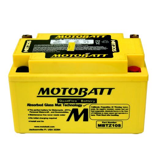 Motobatt MBTZ10S Battery - AGM Sealed for Motorcycle - Powersport