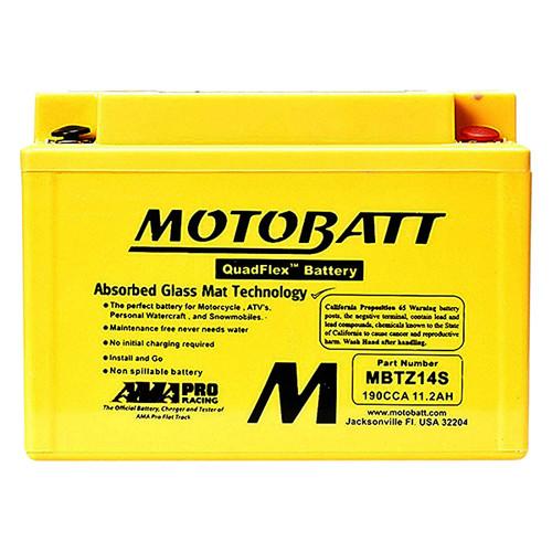 Motobatt MBTZ14S Battery - AGM Sealed for Motorcycle - Powersport