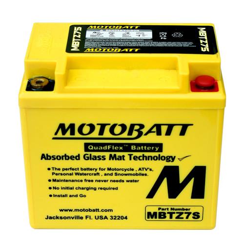 Motobatt MBTZ7S Battery - AGM Sealed for Motorcycle - Powersport