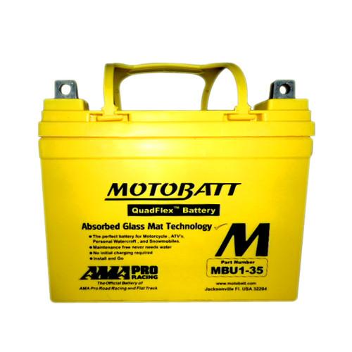 Motobatt MBU1-35 Battery - AGM Sealed for Motorcycle - Powersport