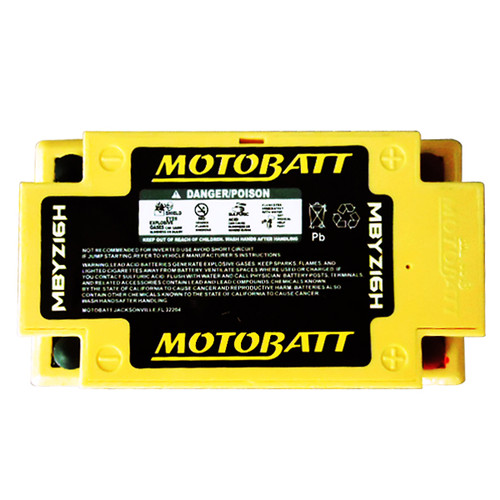 Motobatt MBYZ16H Battery - AGM Sealed for Motorcycle - Powersport