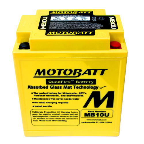 Yuasa 12N10-3A-1 Battery Replacement - AGM Sealed for Motorcycle