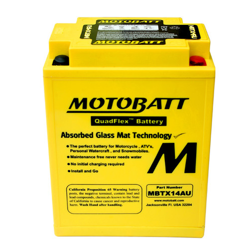 Yuasa 12N14-3A Battery Replacement - AGM Sealed for Motorcycle