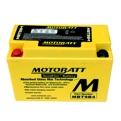 GS Battery GT9B-4 Battery Replacement - AGM Sealed for Motorcycle