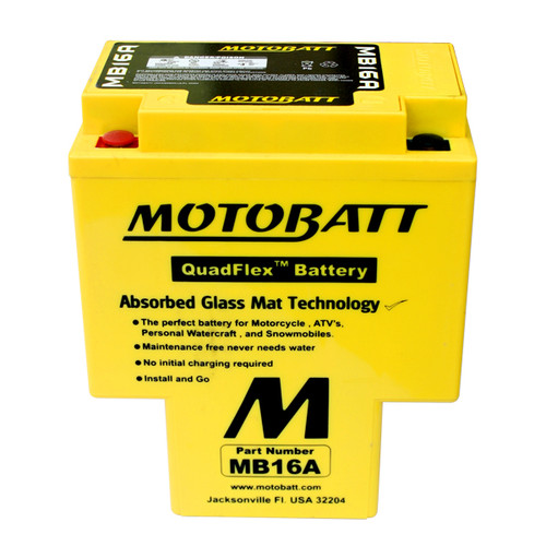 Yuasa HYB16A-AB Battery Replacement - AGM Sealed for Motorcycle
