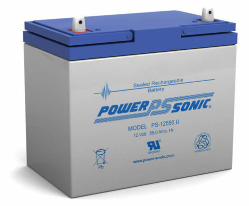 Power-Sonic PS-12550 U Battery - 12V 55Ah AGM Sealed Lead