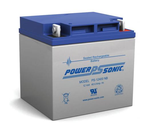 Power-Sonic PS-12400 NB Battery - 12 Volt 40 Amp Hour AGM