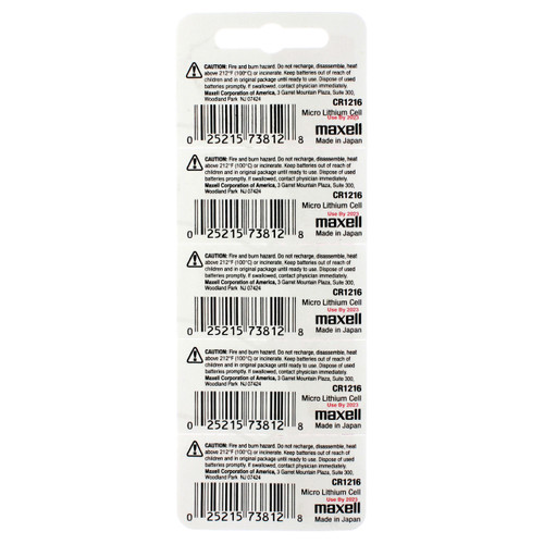 Maxell CR1216 Battery (2000 Piece Case)