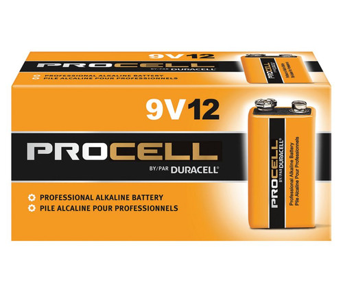Duracell Procell 9 Volt (9V) Batteries - PC1604 Industrial (72 Case)