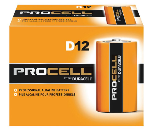 Duracell Procell D Batteries - PC1300 Industrial (72 Case)
