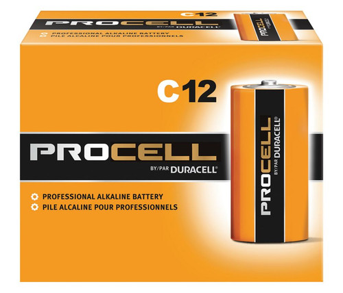 Duracell Procell C Batteries - PC1400 Industrial (72 Case)