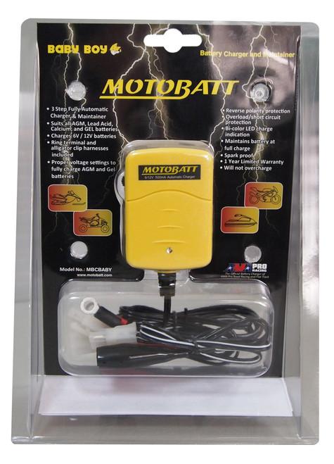Motobatt Baby Boy AGM Battery Charger - 6 Volt / 12 Volt 500mA - MBCBABY