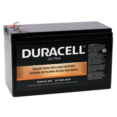 """Duracell SLA12-8F2 Battery Replacement (.250"""") 12V 8Ah Ultra AGM Sealed Lead"""