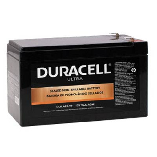 """Duracell SLA12-9F Battery Replacement (.187"""") 12V 9Ah Ultra AGM Sealed Lead"""