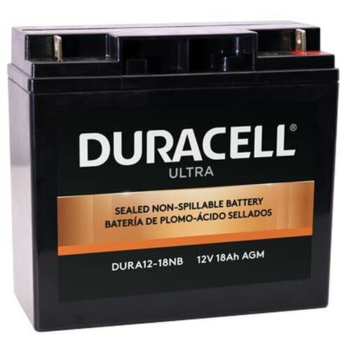 Duracell SLAA12-18NB Battery Replacement (N&B) 12V 18Ah Ultra AGM Sealed Lead