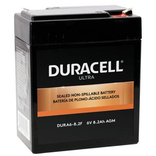 """Duracell DURA6-8.2F Battery Replacement (.187"""") 6V 8.2Ah Ultra AGM Sealed Lead"""