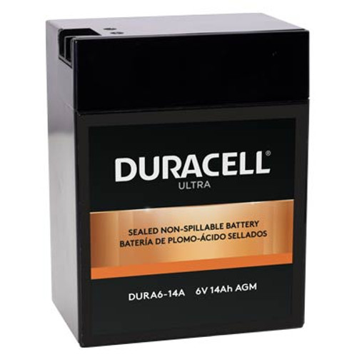 DURA6-14A Duracell Battery Replacement - 6 Volt 13.0 Amp. Hr Sealed Rechargeable
