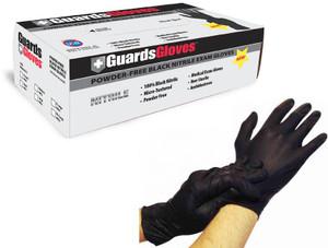 Black Nitrile Powder-Free Exam Gloves: 1,000 MEDIUM