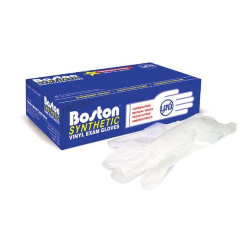 Boston Vinyl Exam Gloves (Box/100) MEDIUM