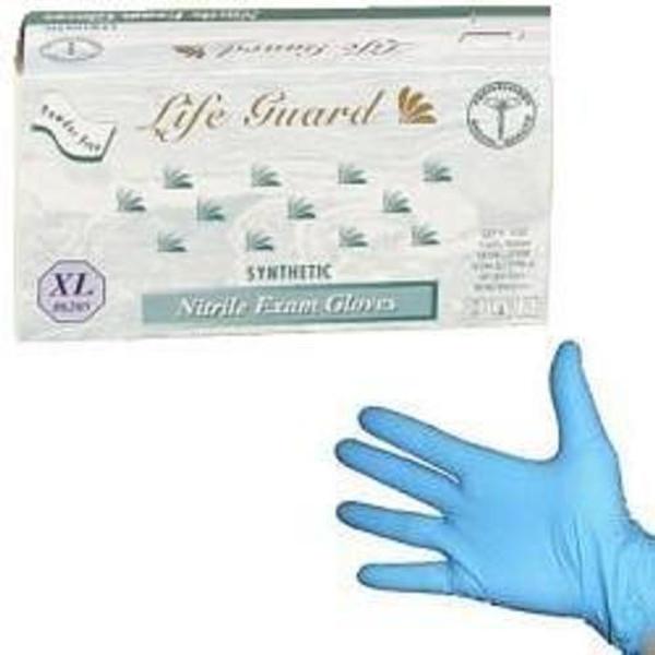 Powder-Free Blue Nitrile Exam Gloves: 1,000 X-LARGE