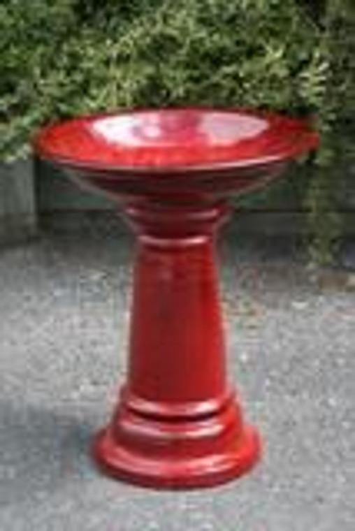 Bird Bath - Red 50cm