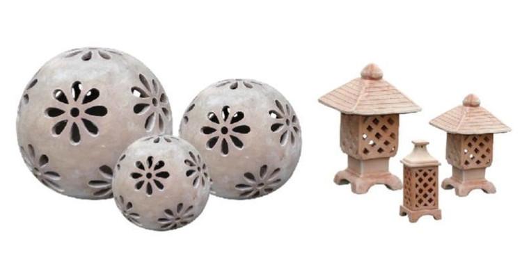 Lantern - Terracotta Lattice
