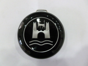 HORN BUTTON CAP TYPE 1 / 3 60-71 BLACK WITH SILVER CREST