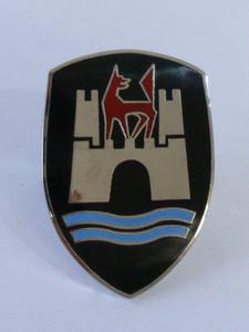 Bonnet Crest, Black, Beetle 1960-1962 - with base