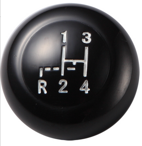 BLACK SHIFT KNOB FOR VW BUG BUS TYPE 3 KARMANN GHIA 12MM