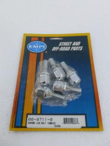 Chrome Lug Bolts, 60 degree, 12-1.5 for EMPI 5x205 wheels (5 pce)