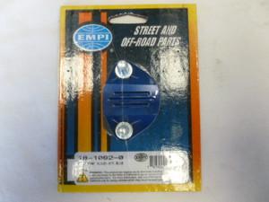EMPI BILLET FUEL PUMP BLOCK OFF PLATE 12-1600 ANODISED BLUE