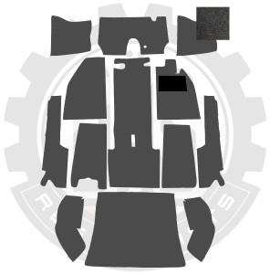 CARPET KIT BEETLE 56-64 BLACK