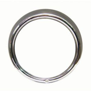 Headlight Rim in Stainless Steel Single Screw HoleHeadlight rim made in stainless steel with one screw hole. Sold individually.
