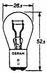 Tail Light Bulb Dual Filament 6 Volt