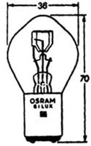 Headlight Bulb 6 Volt, Early Euro Style