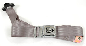 3-POINT NON-RETRACTABLE SEAT BELT GREY 1