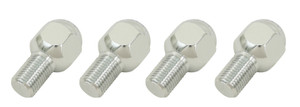 Chrome Lug Bolts - M14-1.5, 20.5mm Long, Set of 4, Steel / Aluminum Wheels